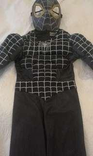 Padded Black Spiderman Costume
