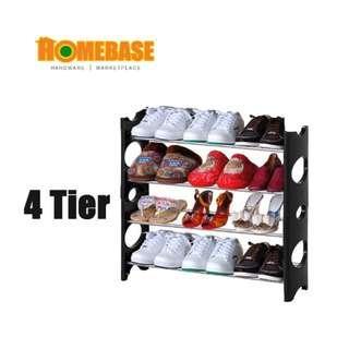 Homebase 4 Tier Shoe Rack Shoe Storage