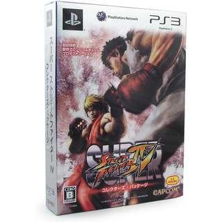 PS3 Super Street Fighter 4 IV SF4 Collectors Package Fighting Games