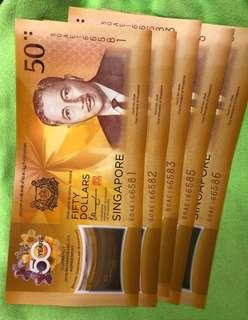 Limited Edition - Brunei, Singapore currency notes 💙❤️💚💜💙