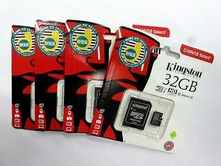 全新 香港行貨 Kingston 32GB Micro SD Memory Card 記憶卡 32GB Class 10