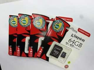 全新 香港行貨 網購 限時 特價 Kingston 64GB Micro SDXC Memory Card 記憶卡 64GB Class 10