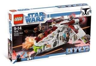 LEGO 7676 Star Wars Republic Attack Gunship (MISB)