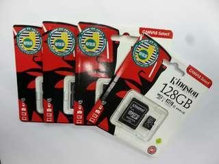 全新 香港行貨 網購包郵 限時特價 Kingston 128GB Micro SDXC Memory Card 記憶卡 128G Class 10