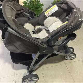 Chicco Viaro Stroller With Car Seat for Sale.