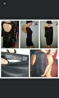 Zara metallic black dress