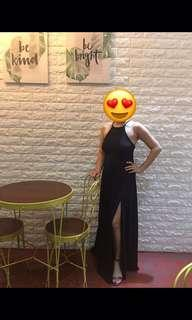 Black formal dress gown
