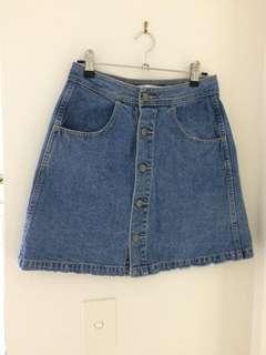 Wrangler Blue A-Line Skirt