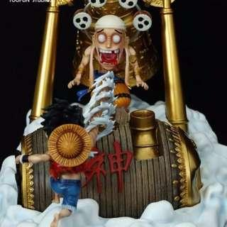 Luffy VS Enel High Quality Resin Statue