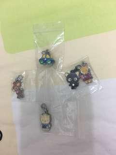 Sanrio 7-11 吊飾 5個 包平郵
