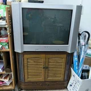 SONY 彩色電視(有遙控器)