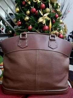 Authentic Louis Vuitton Ltd Ed Suhali Lockit MM in Cognac