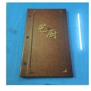 Menu book cover_Booklet_custom Made