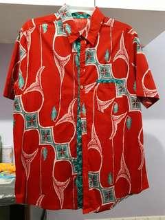 Red couple kemeja and dress