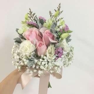 ROM Bouquet in Pink and White theme / Wedding Bouquet