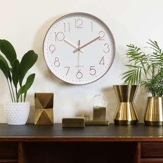 WALL CLOCK ROSE GOLD (SILENT)