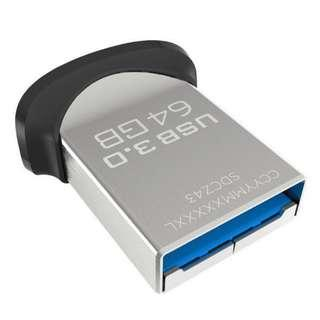 Sandisk Ultra Fit USB 3.0 Flash Thumb Drive 64GB 150MB/s (不帶包裝)