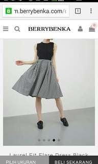 Laurel Fit Flare Dress Black