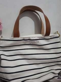 Chic and Darling Small stripes sling bag