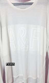 A&F White Long Sleeve Shirt