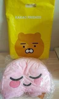 KAKAO FRIENDS ryan頸枕 可愛卡通連帽頸枕 旅行辦公室午睡頸枕