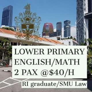 Lower Primary English and Math (Group) (RI Graduate/SMU Law)