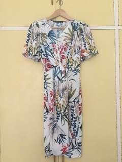 Zara wrap style dress