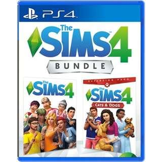 [NEW NOT USED] PS4 The Sims 4 + Cats & Dogs Bundle Electronic Arts EA Simulation Games