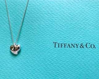 【9成8新。真品】Tiffany 經典款 心型 項鍊 葉子 項鍊 葉片 設計