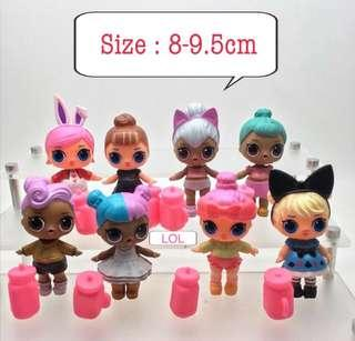 New LOL surprise cake topper decorations figurines toys doll decorations lols