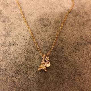 巴黎鐵塔頸鏈(金色)