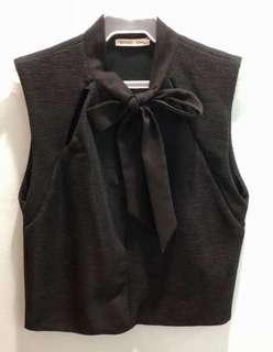 ZARA CUTE RIBBON TOP (BLACK)