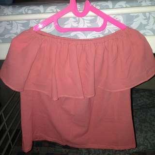 Off shoulder pink #yukjualan