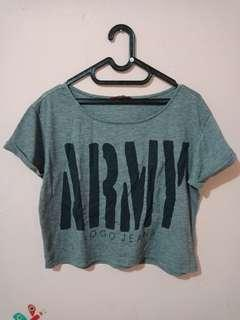 ARMY Crop Top / Crop Tee