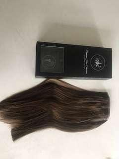 Zala ponytail 16 inch hair extensions in #6 Chestnut brown worth $130