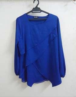 Layered Royal blue blouse #everything18