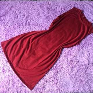 Red casual dress size L