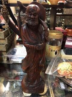 🚚 小黃楊木雕刻達摩