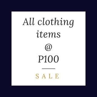 SALE‼️ALL CLOTHING @ 💯 PESOS‼️