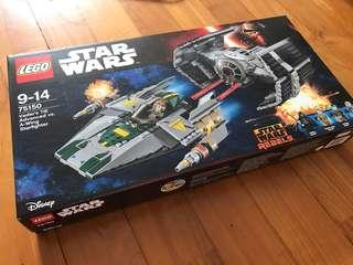 Lego 75150 Vader's TIE advanced vs A-Wing MISB
