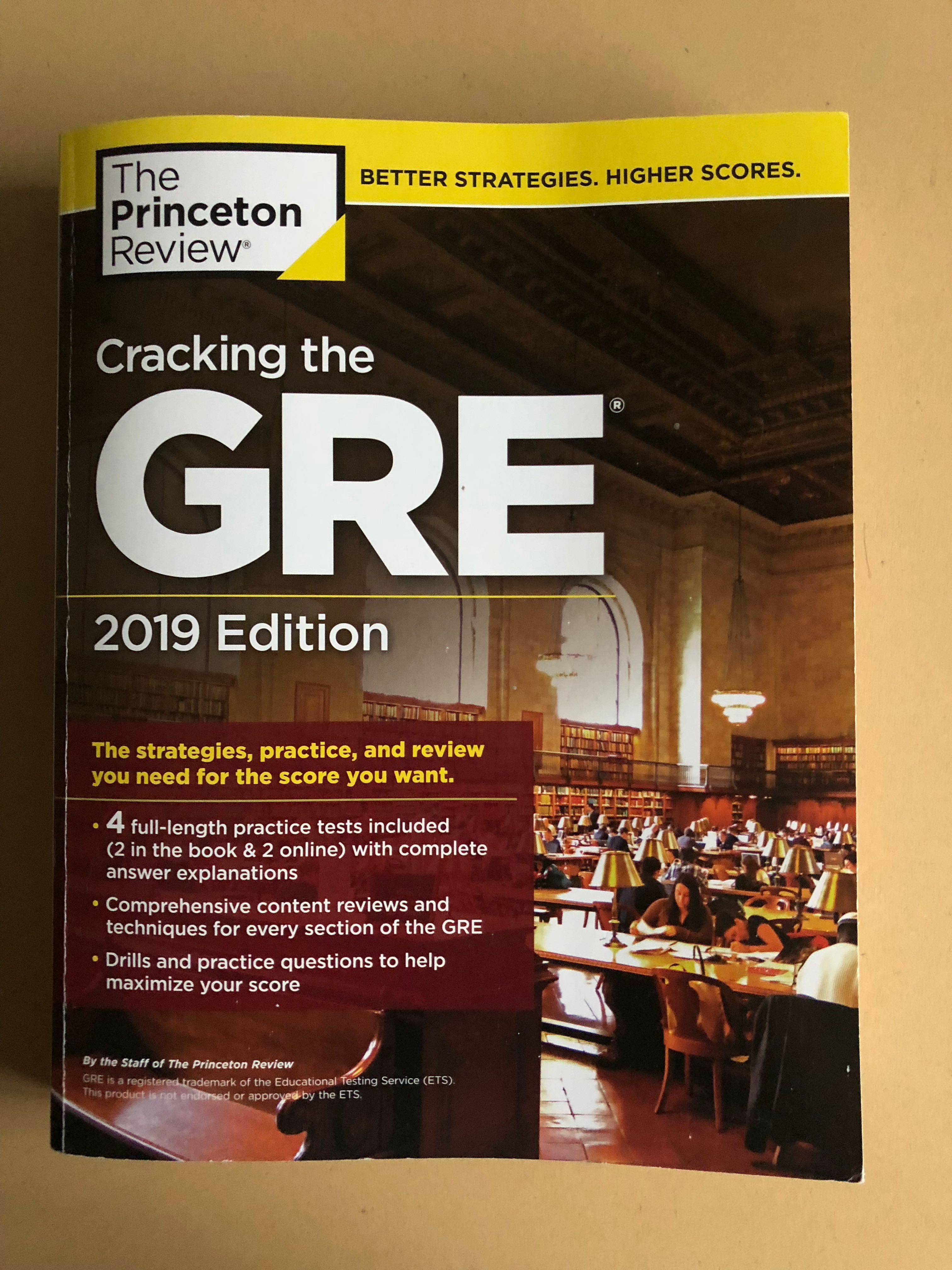 Gre Study Book >> 2019 Princeton Gre Study Guide 4 Books Stationery Textbooks