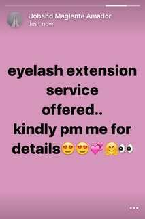 EYELASHES EXTENSIONS SERVICES