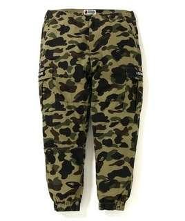 Bape 綠迷6袋揸腳褲