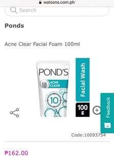 Acne Clear Facial Foam 100ml