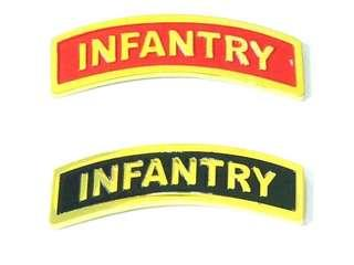 Curved Military Pins Aggressor, Armour, Artillery, Commando, Enforcer, Engineer, Guards, Infantry, Logistics, Signals and Recon. Back Pins Are Spring Catch - See Picture 10.