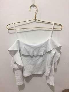 Zara Crop Top Off Shoulder harga NETT