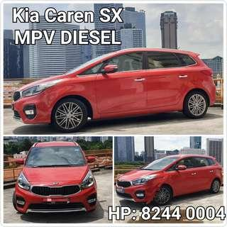 DIESEL MPV. Kia Caren SX High Spec. For Rental.