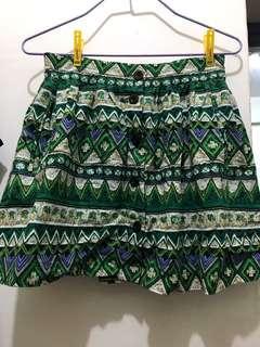 H&M購入綠色熱帶裙仔