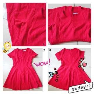 #Chilli Red Dress F9045 #辣椒红连身裙 #everything18