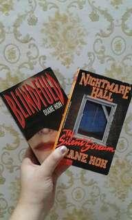 DIANE HOH BOOKS - Blindfold & Nightmare Hall: The Silent Scream (Scholastic)